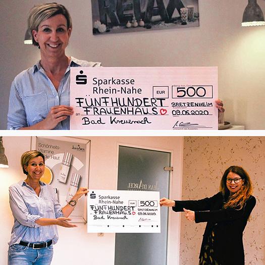Spendenscheck für das Frauenhaus Bad Kreuznach e.V.